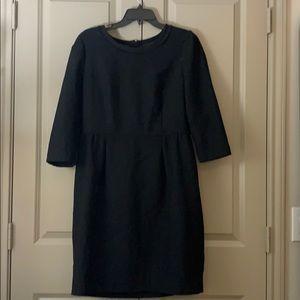 J-Crew Black 3/4 sleeve dress